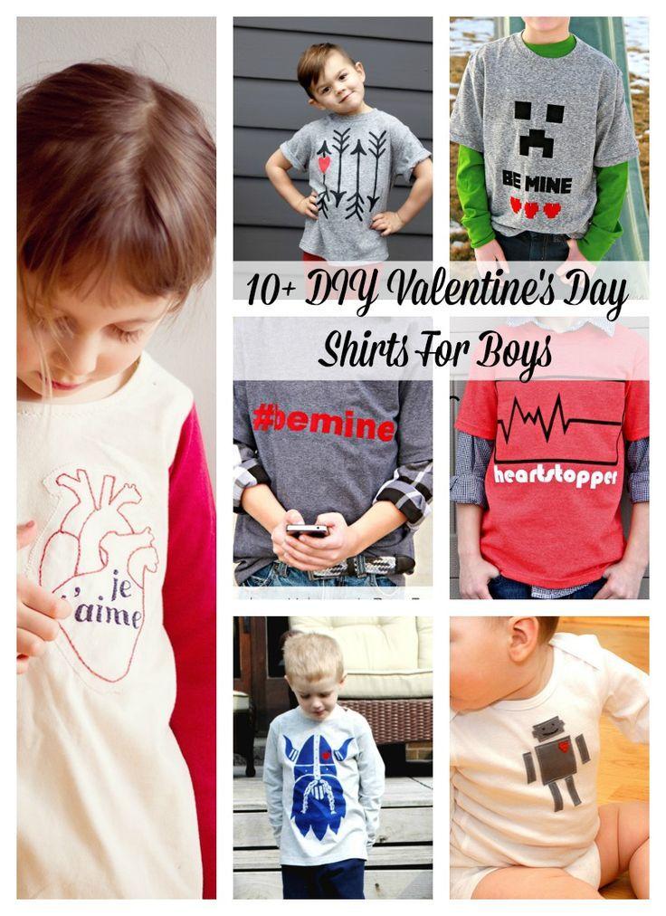 eea08e03 10+ DIY Valentine's Day Shirts For Boys | crafts