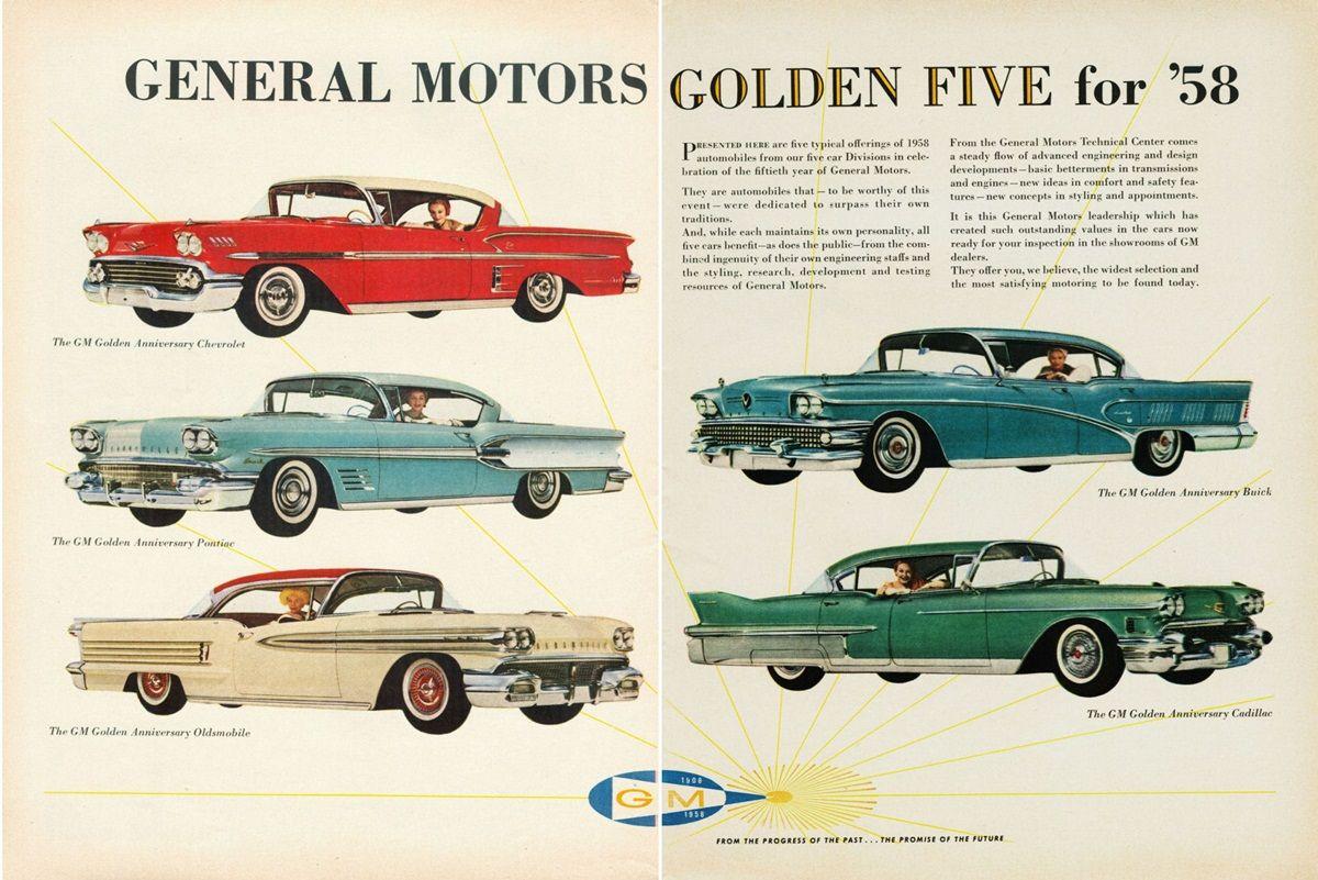 1958 Gm Ad 01 Car Colors Pinterest General Motors Cars And
