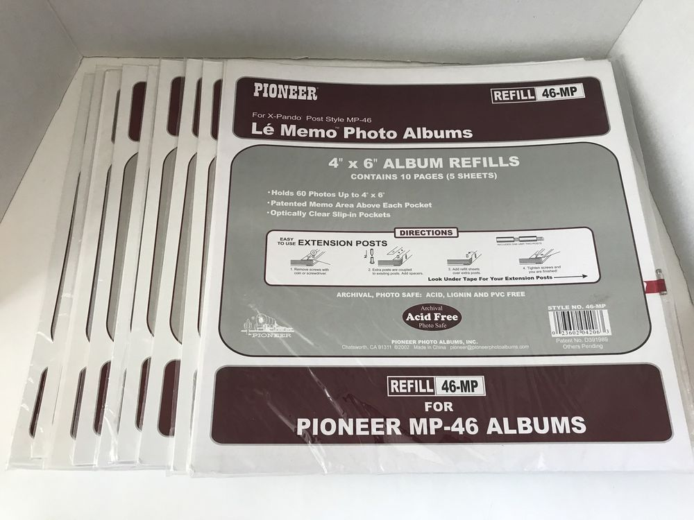lot 9 packs pioneer refill pages 4x6 inch photos mp 46 albums x