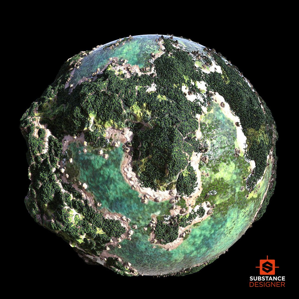Pirate Island Material 100 SubstanceDesigner, by