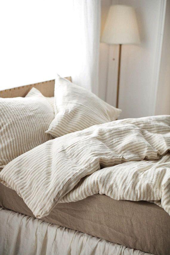Linen Duvet Cover Stone Washed Super Soft Natural Organic Etsy Bed Linens Luxury Linen Duvet Covers Bed Linen Design