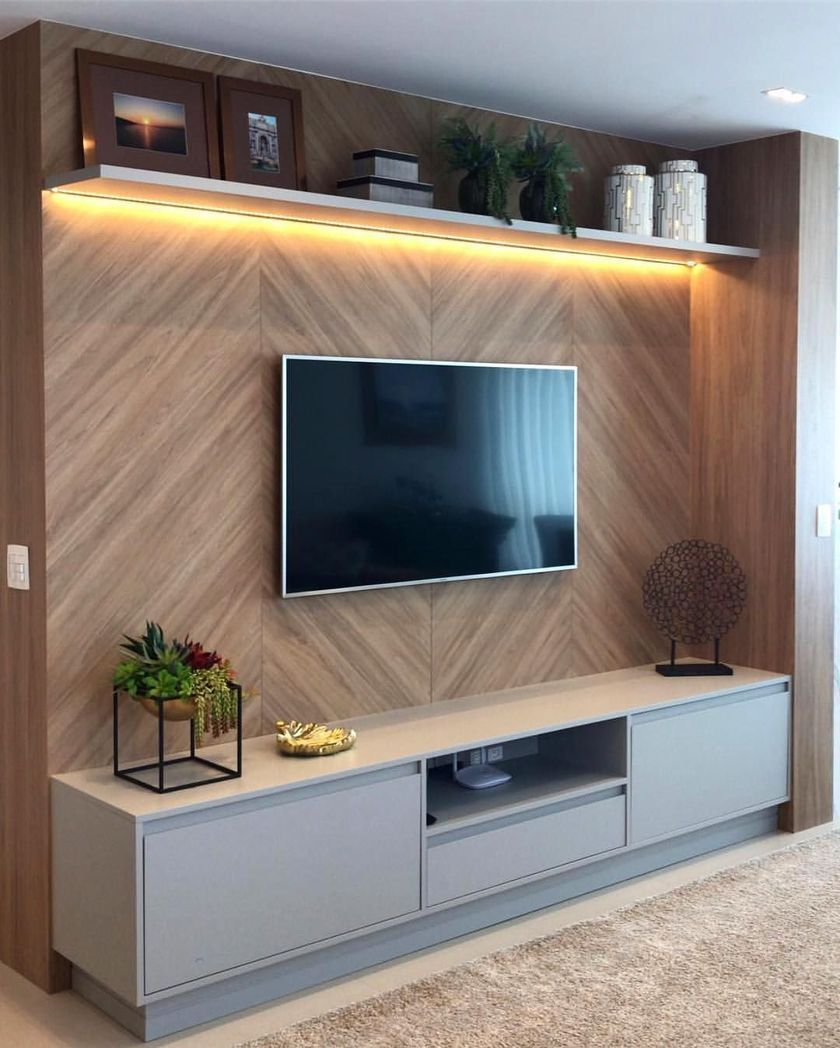 53 Adorable Tv Wall Decor Ideas Roundecor Living Room Tv Unit Designs Living Room Design Small Spaces Living Room Tv Unit