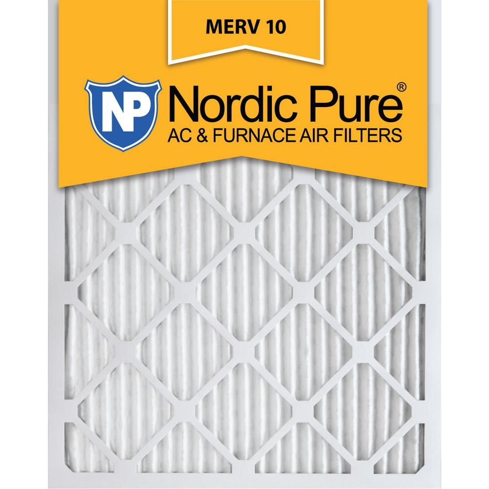 Nordic Pure 12 In X 25 In X 1 In Pleated Merv 10 Fpr 7 Air Filter 3 Pack In 2020 Furnace Filters Pure Products Air Filter