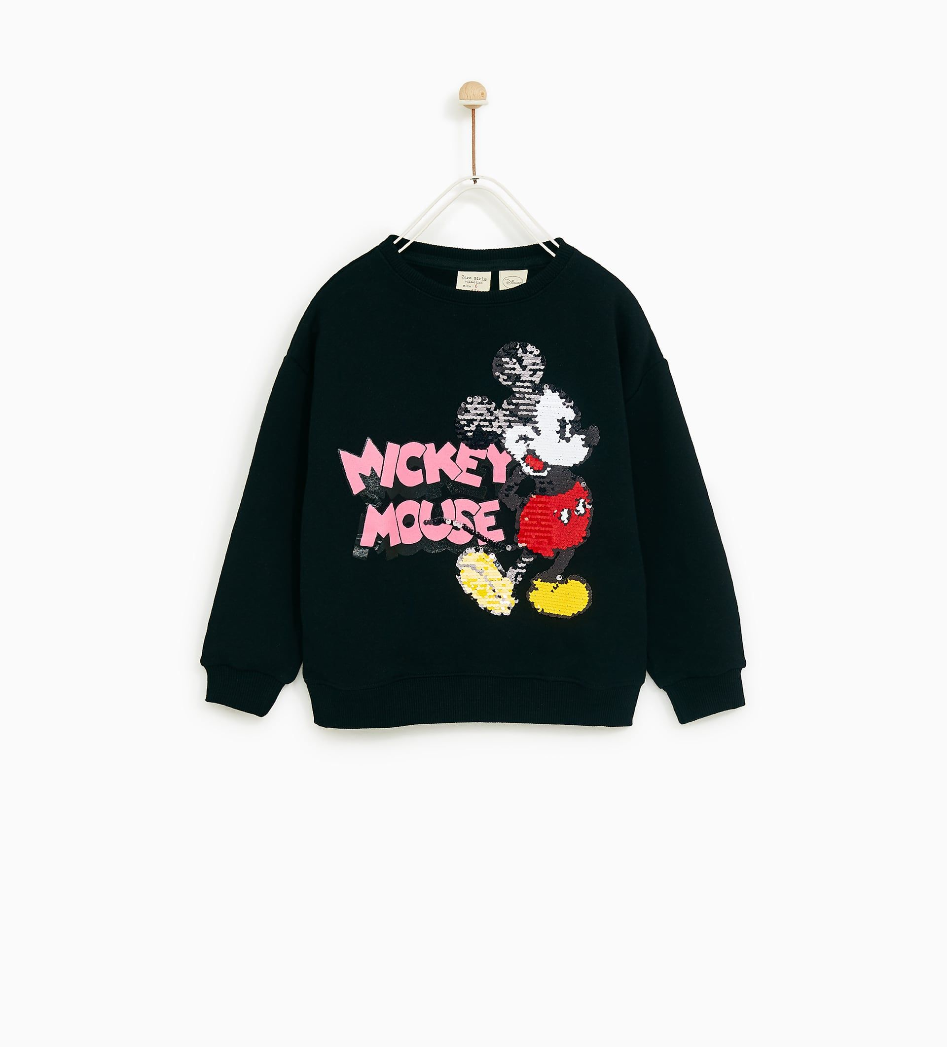 Sudadera Lentejuelas Dobles Mickey Mouse Sweatshirts Sequined Sweatshirt Baby Girl Sweatshirt