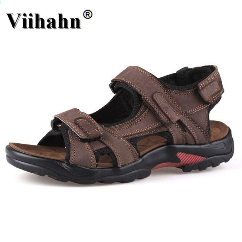 2017 Meskie Sandaly Letnie Oryginalne Skorzane Sandaly Meskie Odkryte Obuwie Meskie Skorzane N Genuine Leather Sandals Mens Leather Sandals Mens Sandals Casual