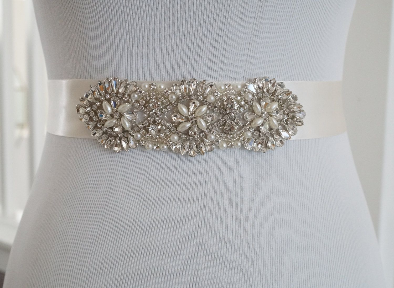 Wedding Belt Bridal Belt Sash Belt Crystal Rhinestone Belt Style 163 August 12 2015 at 11:40PM