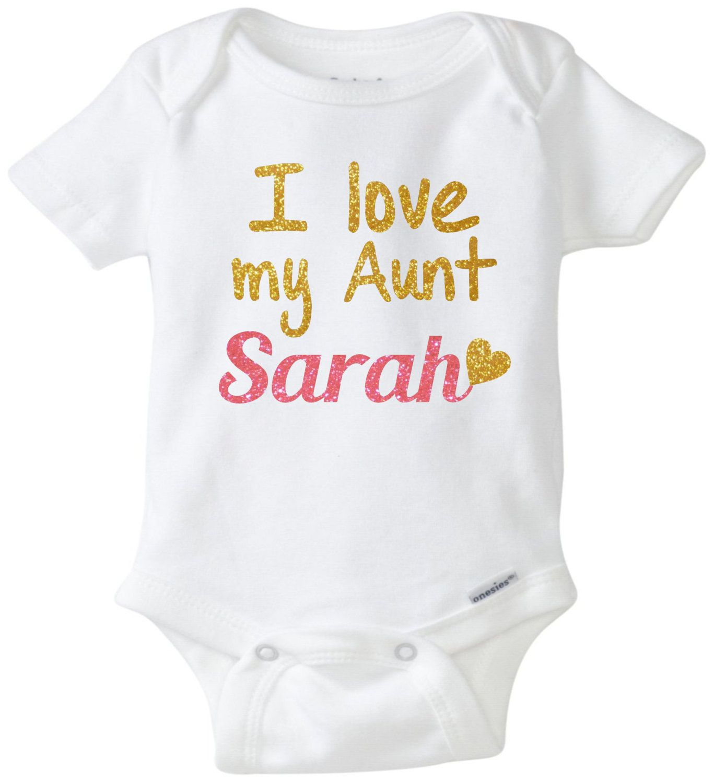 Baby girl clothes I love my Aunt onesie Newborn onesie Custom onesie