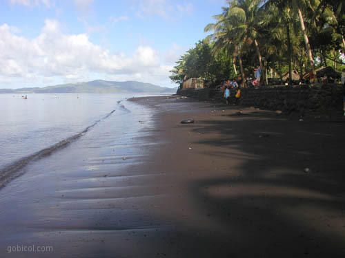 Bacacay Albay Philippines Black Volcanic Sand Beaches Favorite Places Spaces Pinterest