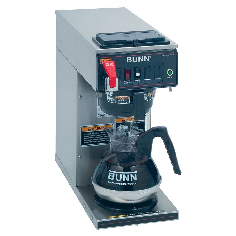 Bunn 12950 0293 Cwtf15 1 Automatic 12 Cup Coffee Brewer With 1 Lower Warmer And Black Plastic Funnel 120v Bunn Coffee Maker Coffee Maker Machine Coffee Brewer