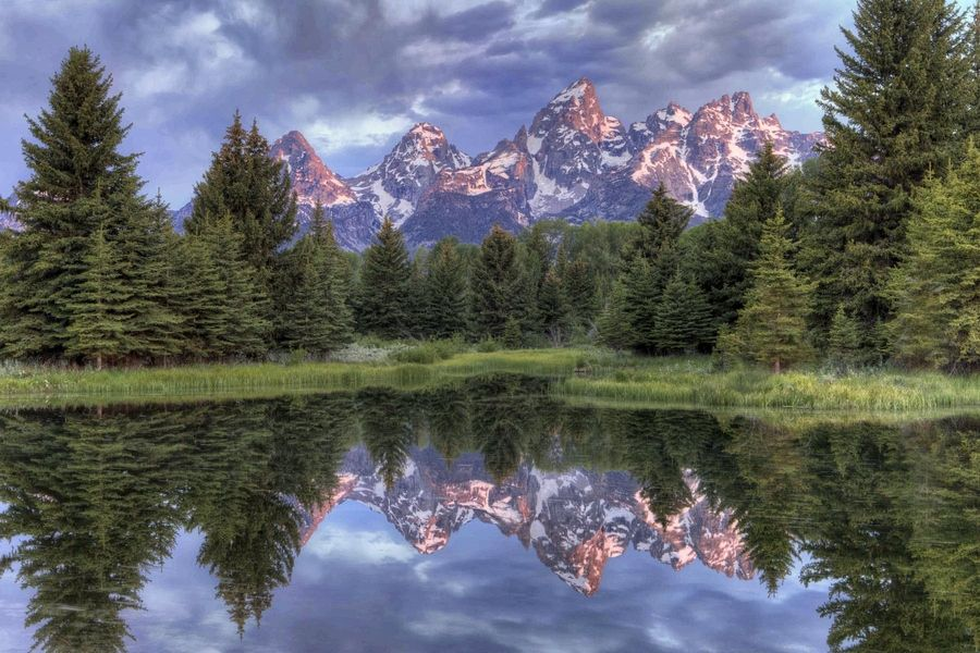 Grand Tetons at Sunrise by Jeanne Frasse, via 500px