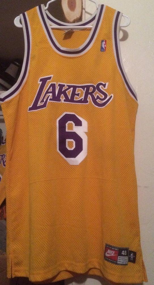 online retailer 63c7f 3e34f Nike Authentic Pro Eddie Jones Los Angeles Lakers Jersey 48 ...