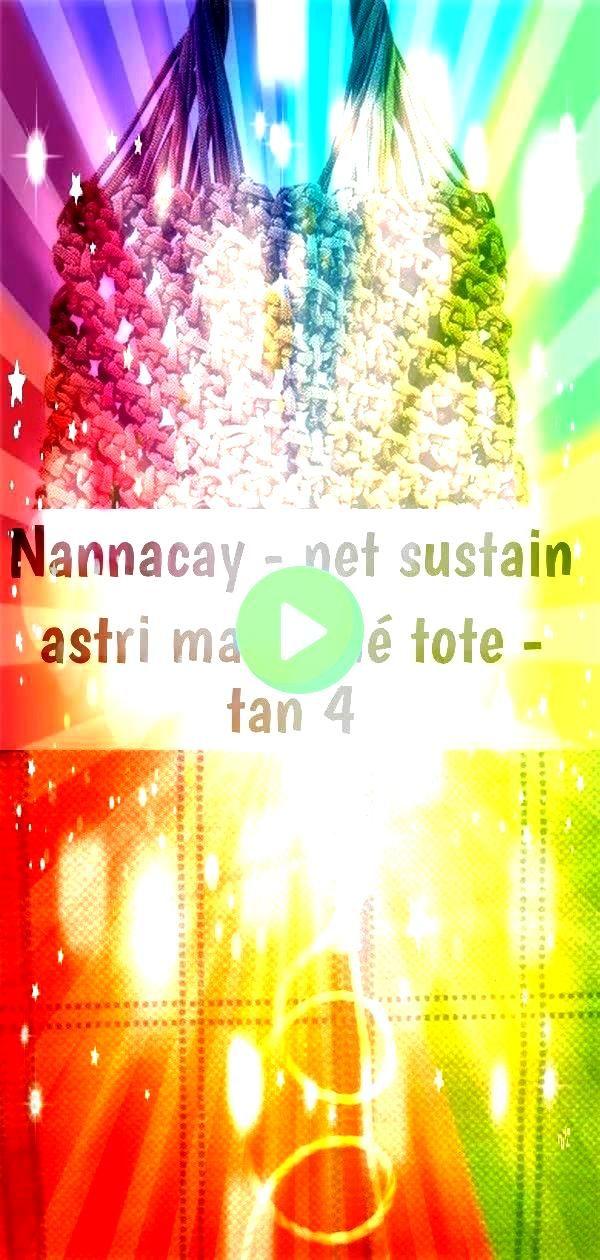 sustain astri macramé tote  tan 4 Nannacay  Net Sustain Astri Macramé Tote  Tan macrame loop knots spiral braid of Small Owl Macrame Wall Decor Material100...