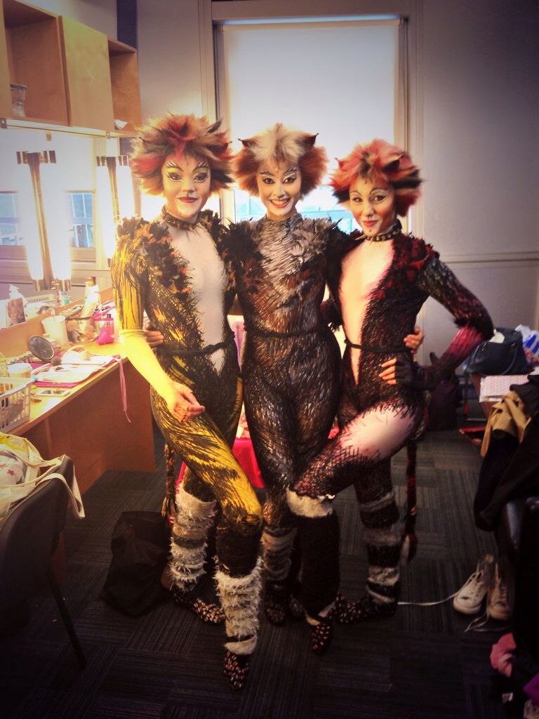 Cats Tour 2013 Demeter Freya Rowley Baby Griz Francesca Whiffen Jemima Collette Coleman Cats The Musical Costume Theatre Kid Jellicle Cats