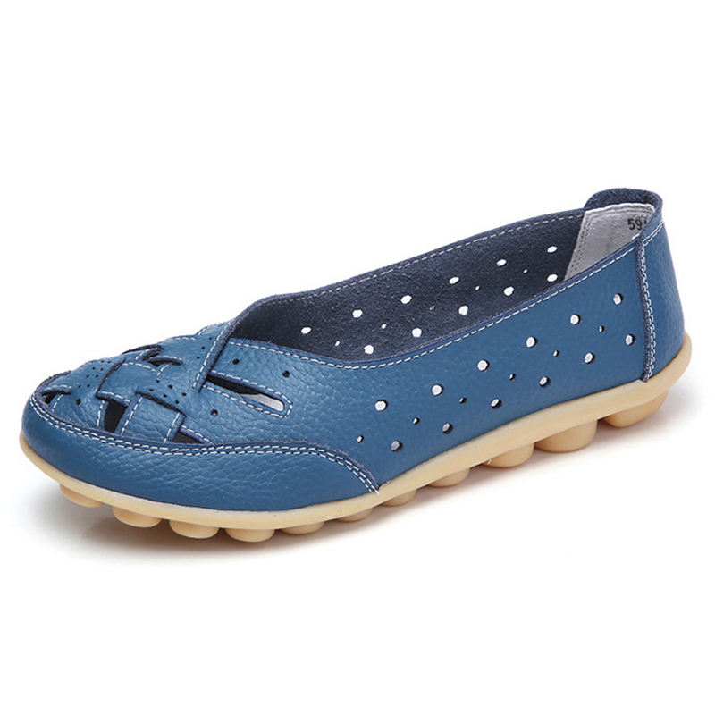 Leather loafers women