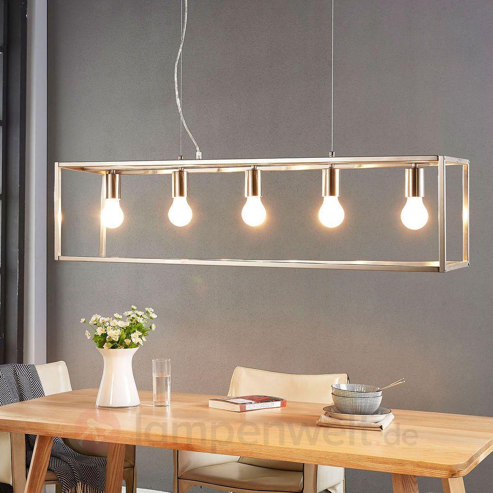Faszinierend Hängeleuchte Esstisch Beste Wahl Hängeleuchte Dilovan Lampenwelt Metallrahmen Kasten Hängeleuchte E27