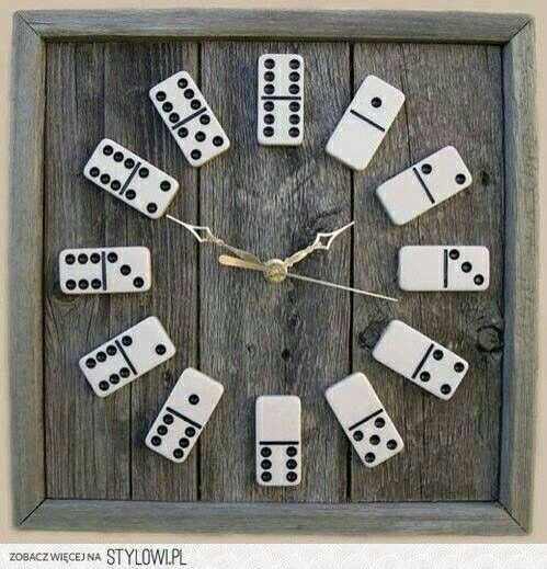 Diyclock do it yourself pinterest clocks crafts and man diy domino clocks make a great addition to your game room or even your backyard patio we have a variety of clock accessories along with some woodworking solutioingenieria Gallery