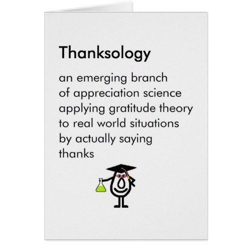 Thanksology - funny graduation gift thank you poem Zazzle