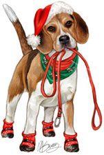 Beagle Christmas Card 2014 Psy