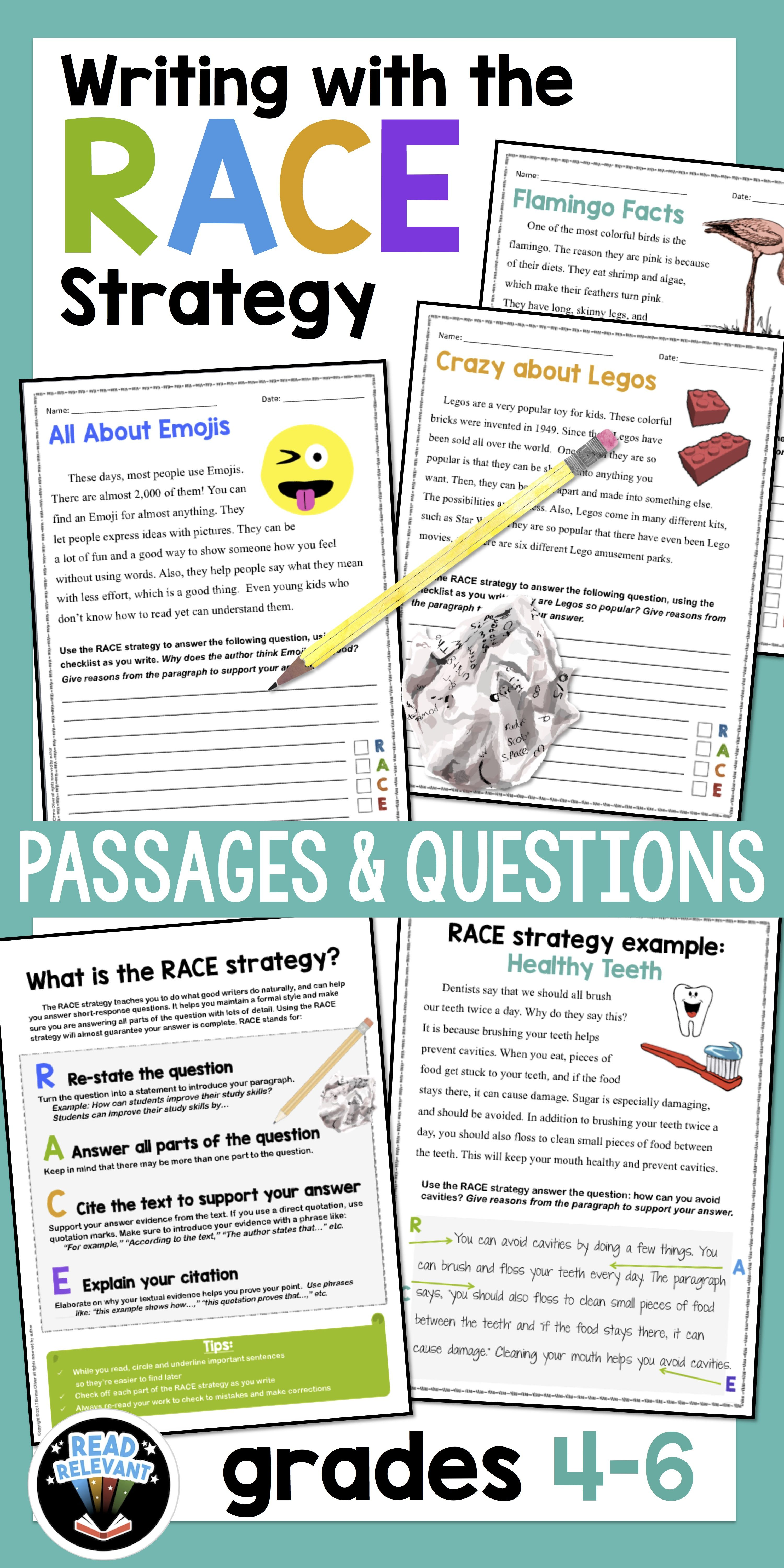 Distance Learning Writing With The Race Strategy Grades 4