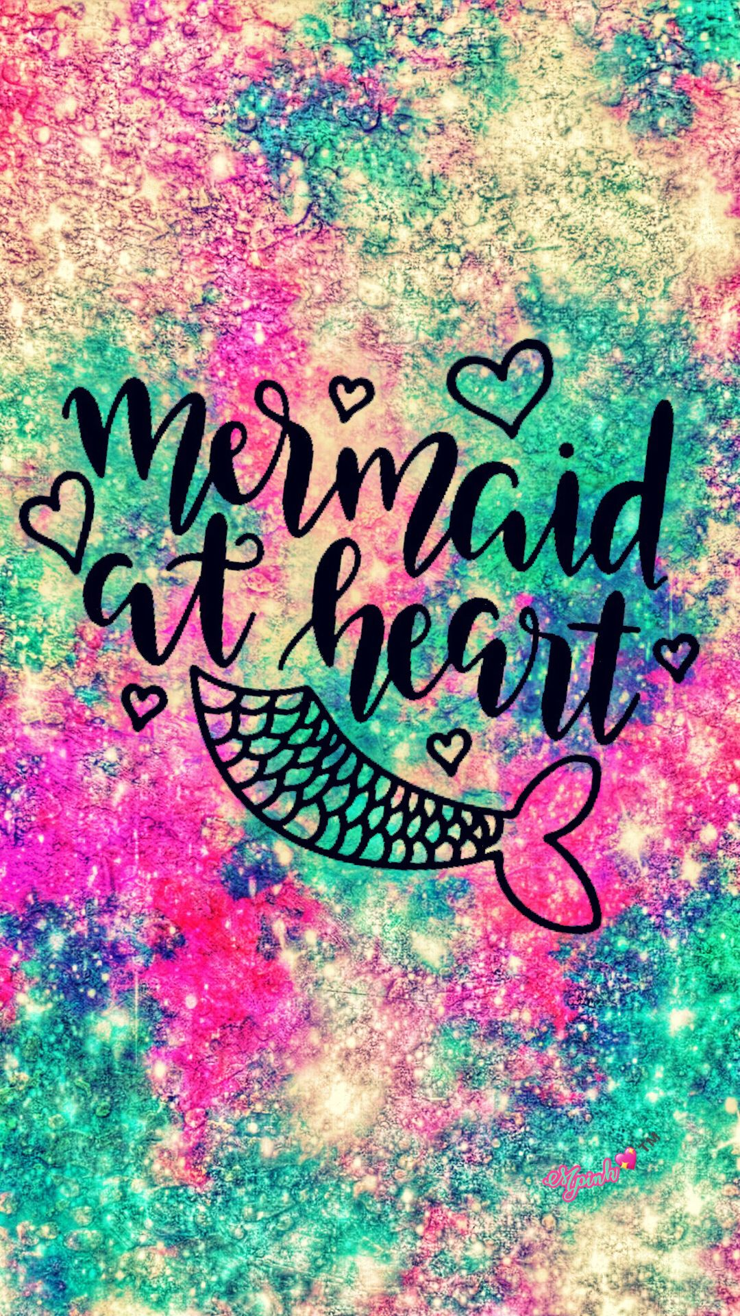 Mermaid At Heart Galaxy Wallpaper Androidwallpaper