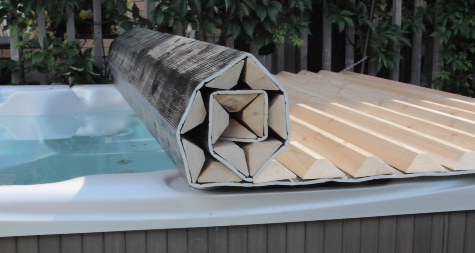 We can custom make a rollup hot tub cover for just about