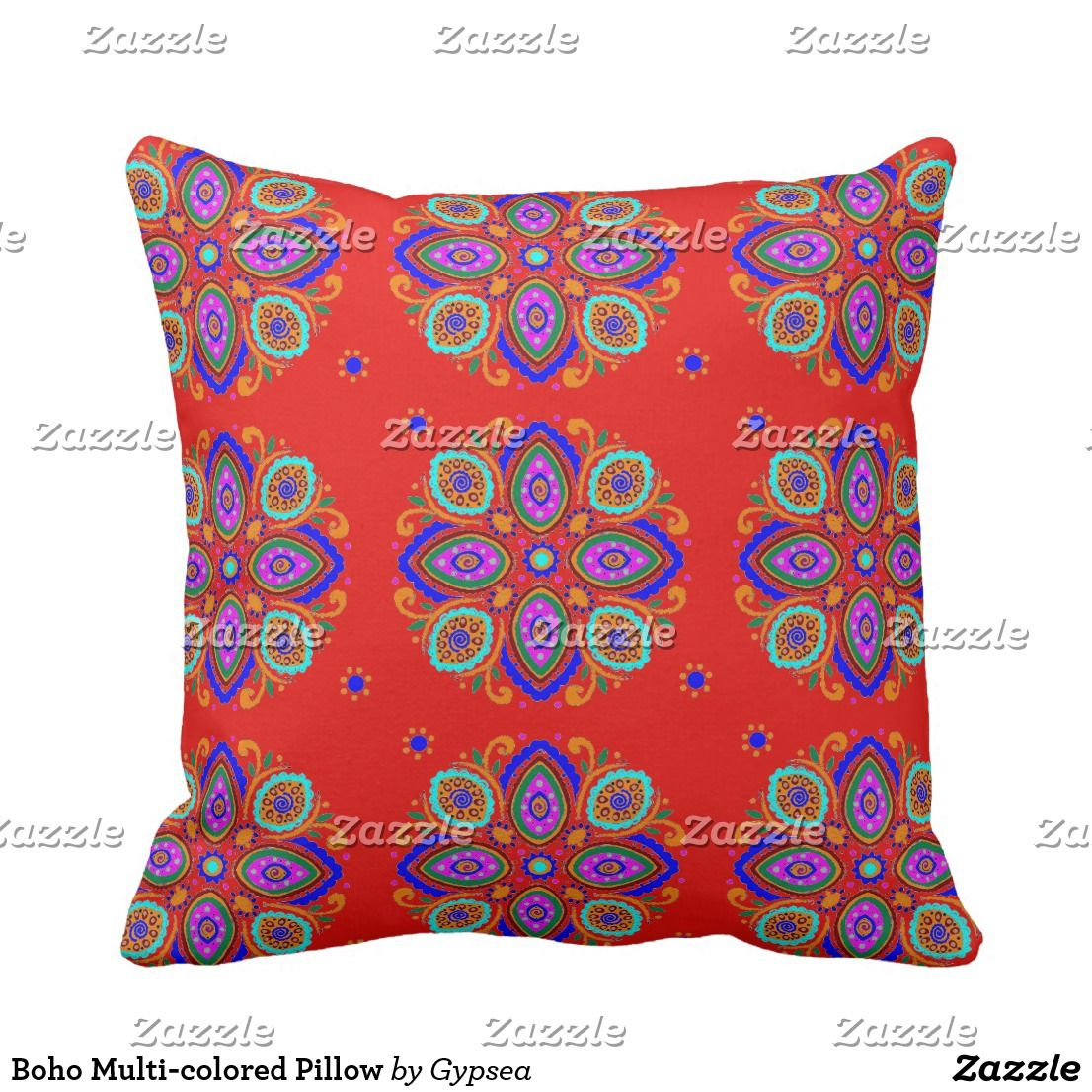 Boho multicolored pillow girly womanly feminine useful things