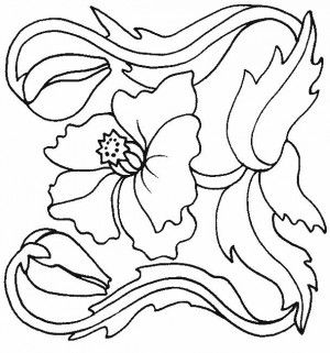 Simple Poppy Coloring Pages 64 Poppy coloring page