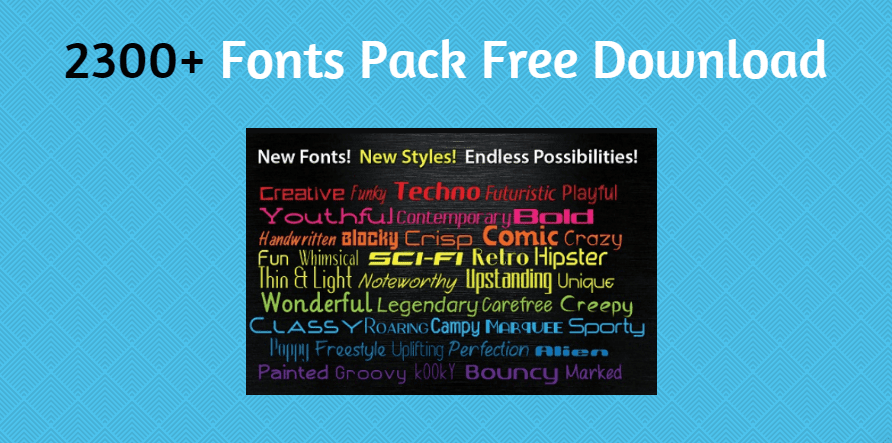 Download 2300 Fonts Pack Free Download | Font packs, New fonts, Techno