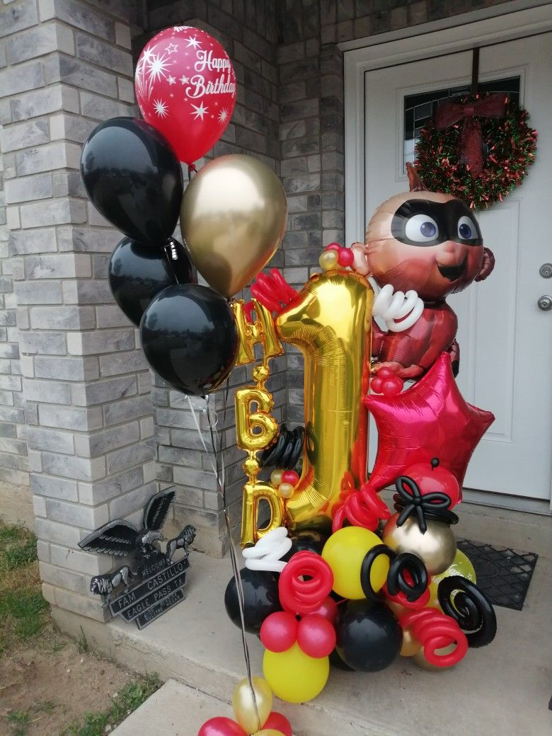 The Incredibles Balloon Bouquet in 2020 Birthday