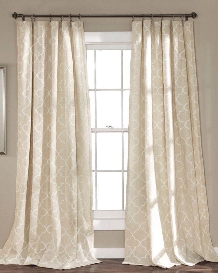 Triangle Home Geo Trellis Window Panel Linen Pair