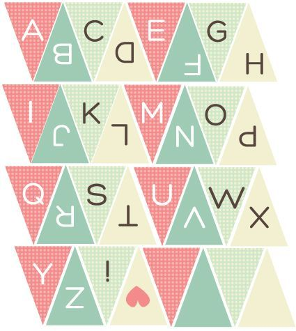 printable bunting letters f4a50d8f71c2c1475c932bfe6c77f14c ...