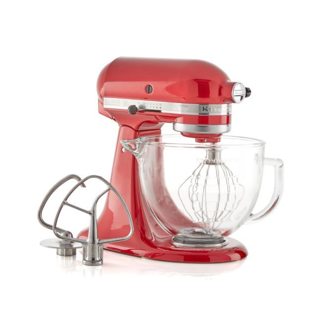 KitchenAid Artisan Design Series Candy Apple Red Stand Mixer + Reviews | Crate and Barrel