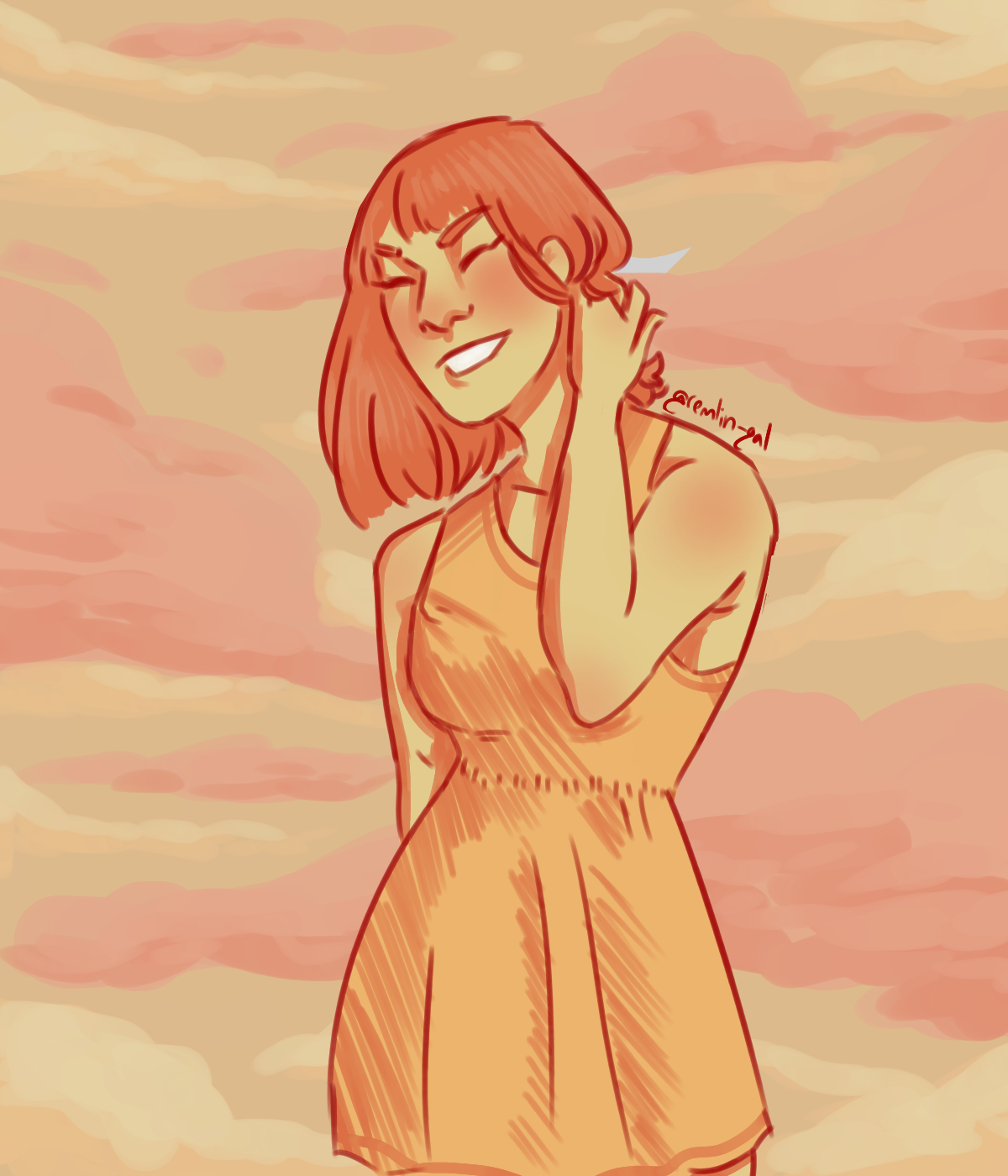 A quick digital painting using a color palette (Rosy Cheeks
