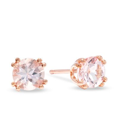 Zales Pyramid Stud Earrings in 14K Rose Gold kzOy9tJ