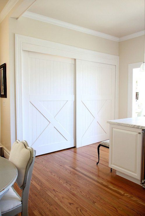 Valspar Cream In My Coffee Just Painted Our Dining Room This Color Love It Home Kitchen Sliding Doors Interior Barn Doors