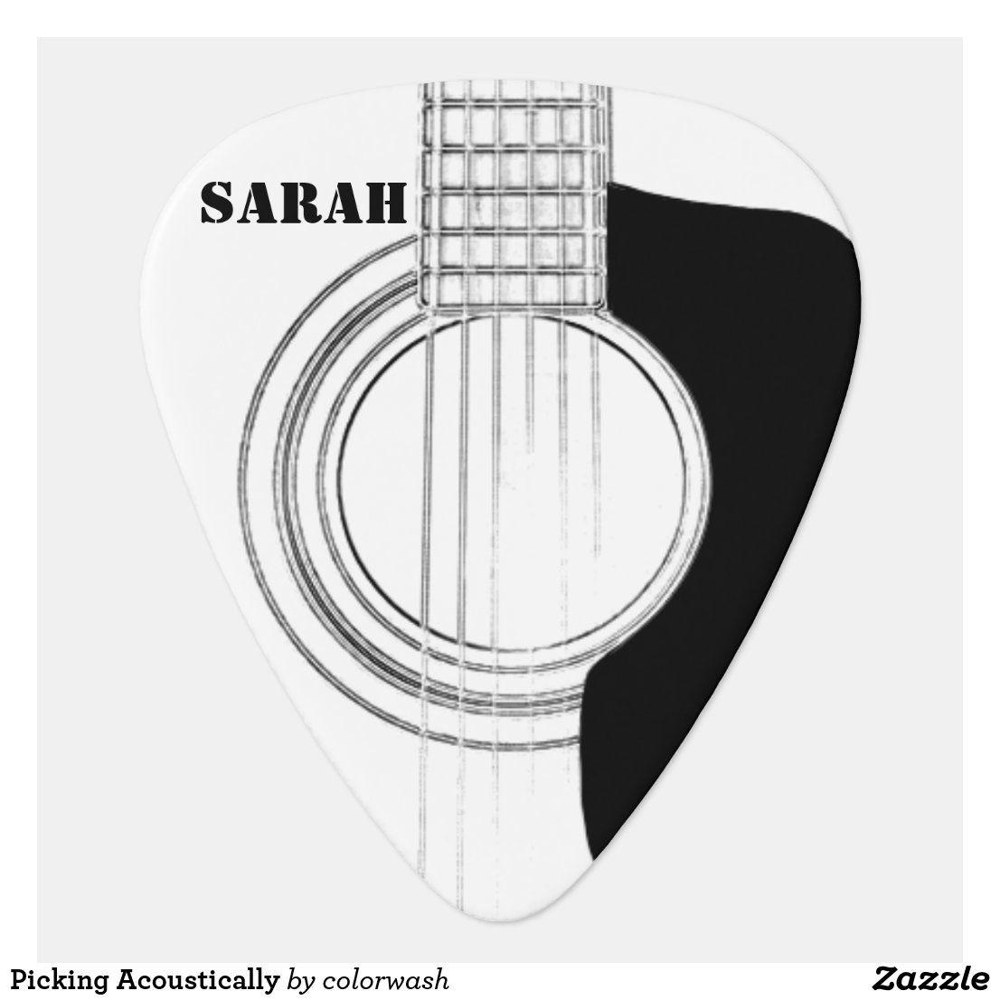 Picking Acoustically Guitar Pick Zazzle Com Guitar Picks Personalized Guitar Design Guitar Pick