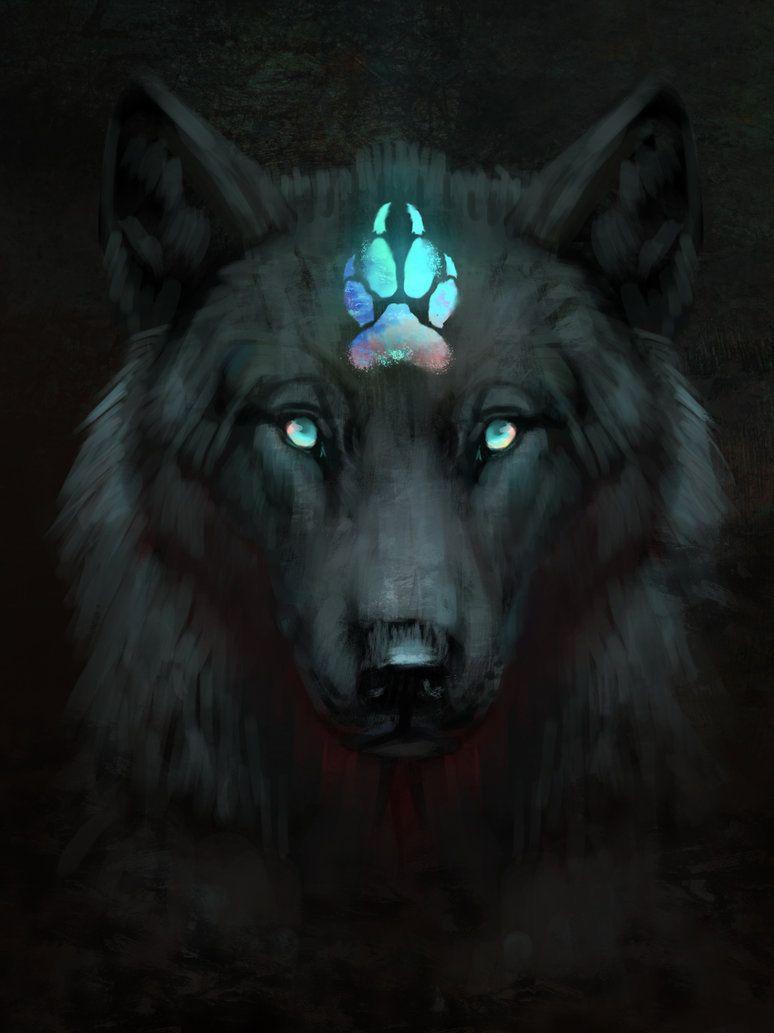 Dog Spirit En 2020 Loup Noir Dessin De Loups Dessin De Loup