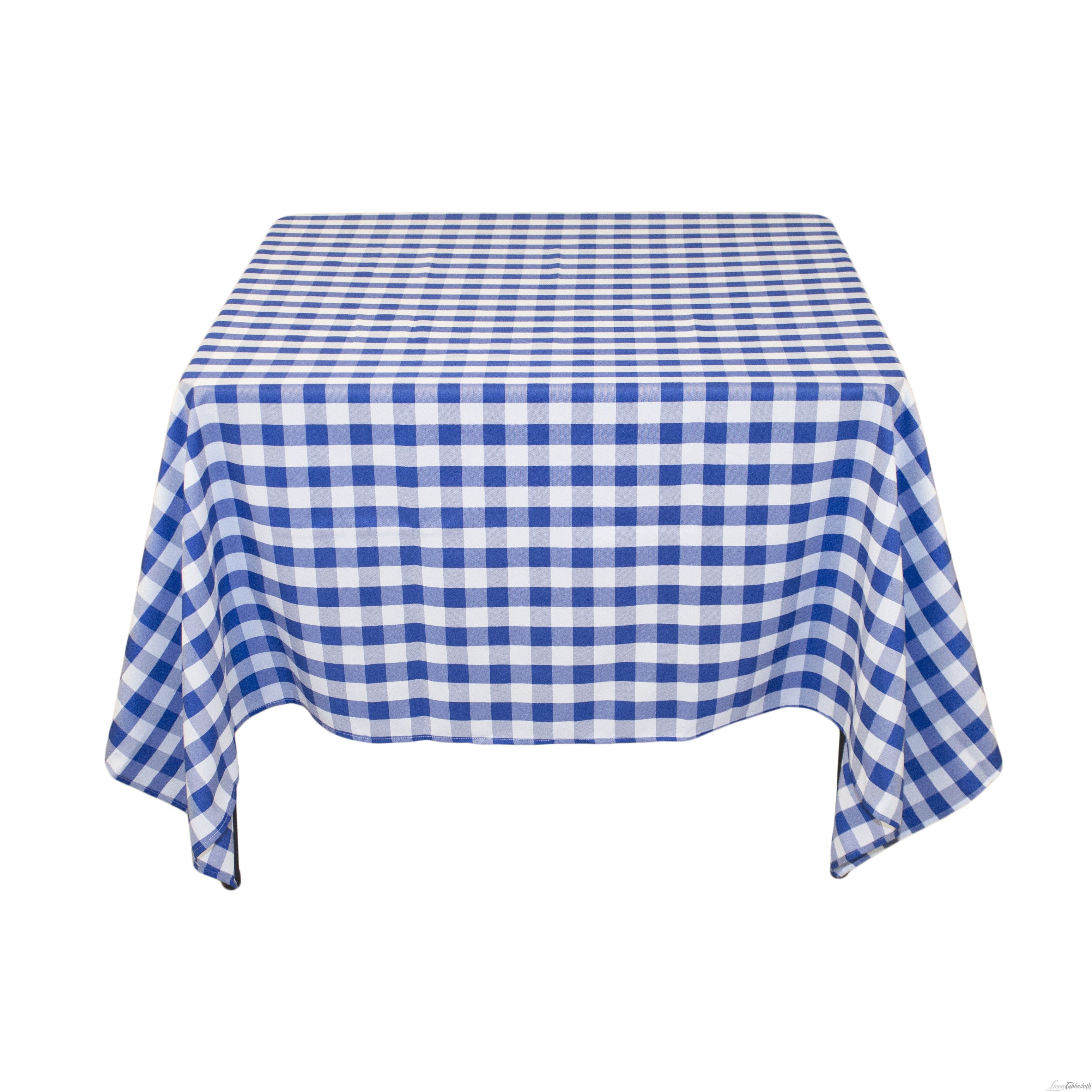 Perfect Buy 70 Inch Square, Blue U0026 White Checkered, Polyester Tablecloths. These  Table Linens