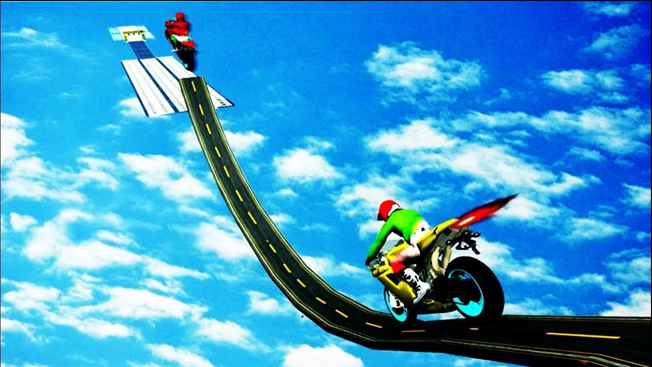 Mega Ramp 2019 Impossible Moto Bike Tracks Stunts Gameplay Lv5