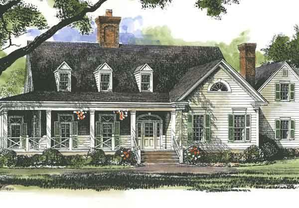 Superb Lanier Farmhouse John Tee Architect Southern Living House Plans Farm Old