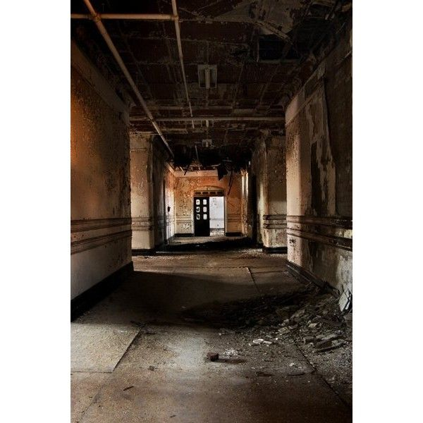 Dead Places - Riverside State Hospital at Opacity: Abandoned... ❤ liked on Polyvore featuring abandoned, backgrounds, building and pictures