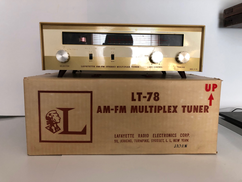Vintage Lafayette Am Fm Multiplex Tuner Model Lt 78 Tube Etsy Tuner Models Tuner Volkswagen Type 3
