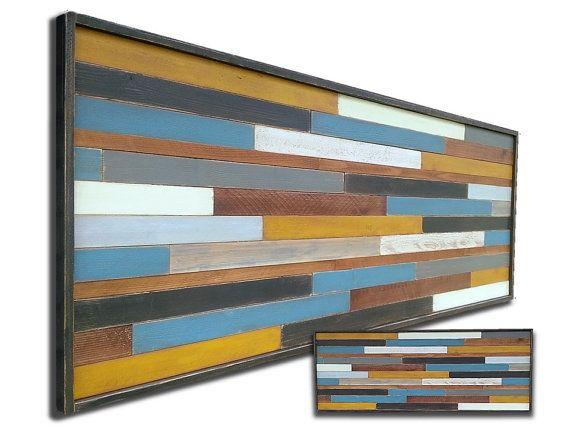 Pared madera reciclada de arte escultura moderno rústico UTC Art