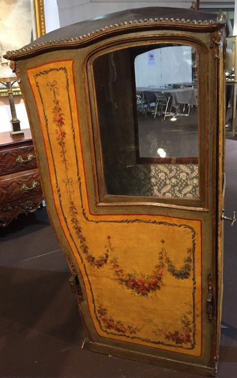 2 Chaise à porteur, Paris vers 1760 1770 Antiquités Franck