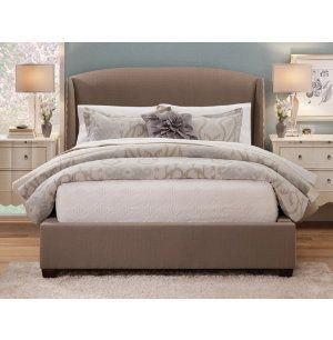 Upholstered headboard, a must for my updated master bedroom