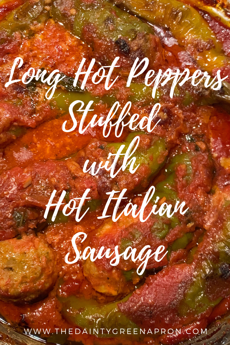 Long Hot Peppers Stuffed with Hot Italian Sausage