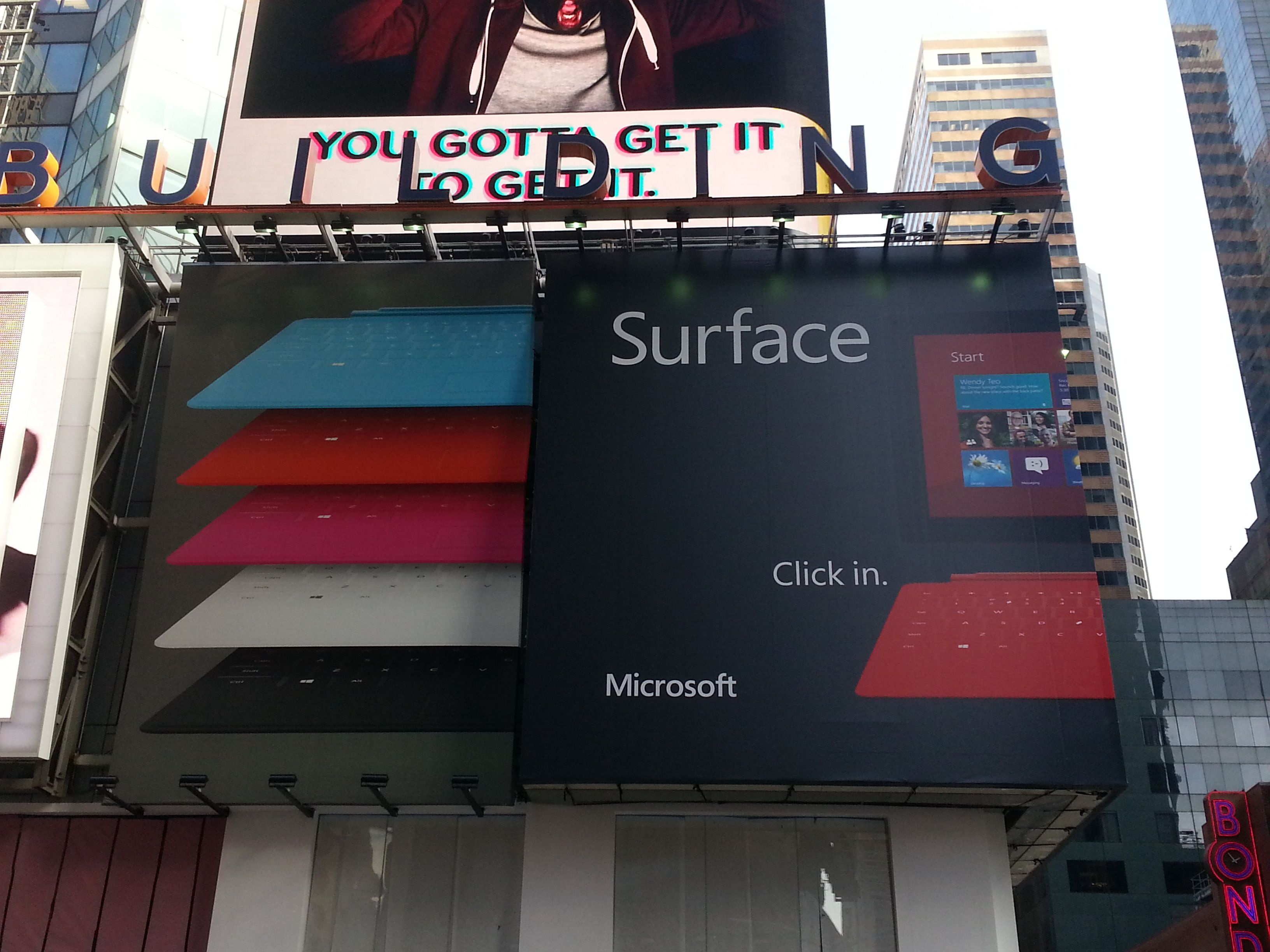 Microsoft Surface Ad Time Square, New York City #6