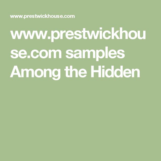 www.prestwickhouse.com samples Among the Hidden
