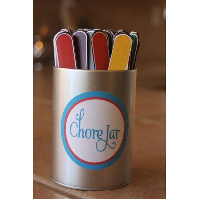 Great twist on a DIY chore jar!