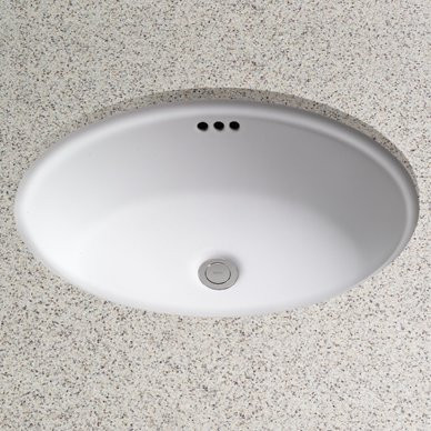 Toto Dartmouth Vitreous China Oval Undermount Bathroom Sink With